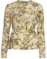 Proenza Schouler Print Tissue Jersey T-shirt - Natural