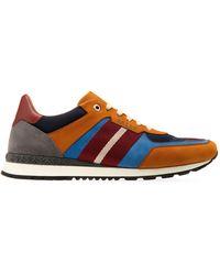 Bally Ascona Aseo Mix Media Stripe Low-top Sneakers - Multicolor