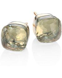 Pomellato - Prasiolite, 18k Rose & White Gold Stud Earrings - Lyst