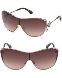 Roberto Cavalli - Monogram Crest Sheild Sunglasses - Lyst