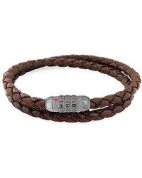 Tateossian Combo Scoubidou Braided Wrap Combination Bracelet - Brown