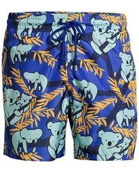Vilebrequin Mahina Koala Print Swim Trunks - Blue