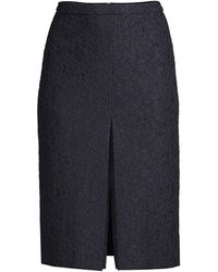 BOSS by Hugo Boss Vaspitze Bonded Lace Pencil Skirt - Blue