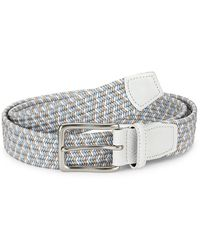 Saks Fifth Avenue Collection Braided Woven Belt - Blue