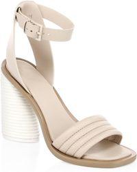 MERCEDES CASTILLO - Leather Tonal Banana Heel Ankle-strap Sandals - Lyst