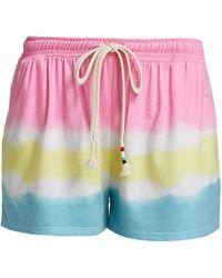 Sol Angeles Colorblock Flounce Shorts - Multicolor