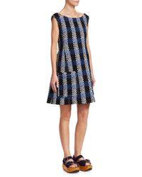 Marni - Plaid Shift Dress - Lyst
