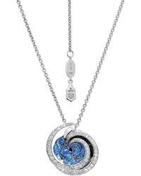 De Grisogono Chiocciolina 18k White Gold, Sapphire & Icy Diamond Necklace