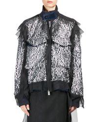Sacai - Sequin Zip-front Jacket - Lyst