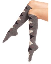 Ilux - Pat Argyle Knee-high Socks - Lyst