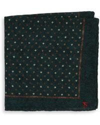 Isaia - Polka Dot Pocket Square - Lyst