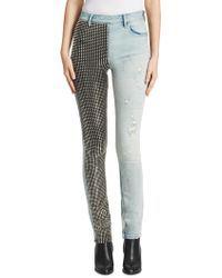 Alexander Wang - Studded Slouchy Slim-fit Jeans - Lyst