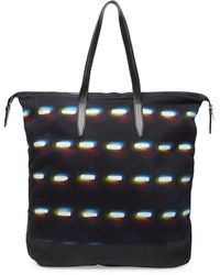Dries Van Noten Dash Pattern Tote Bag - Black