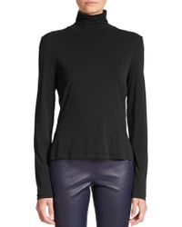 St. John - Caviar Collection Fine Jersey Turtleneck - Lyst
