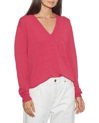 Equipment Marrim V-neck Sweater - Pink