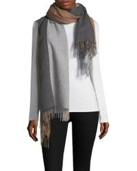 Donni Charm - Colorblocked Blanket Scarf - Lyst