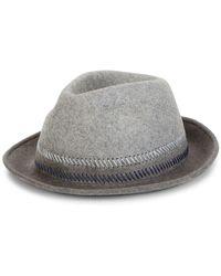 Paul Smith Drip Dye Trilby Hat - Gray