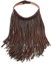 Brunello Cucinelli - Monili Leather Fringe Bib Necklace - Lyst