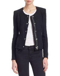 IRO Agnette Tweed Jacket - Black