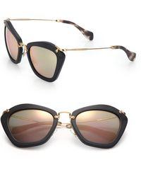 75d154e8213d Miu Miu - 55mm Modified Cat Eye Sunglasses - Lyst