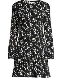 Maje - Women's Rockiz Daisy Print Boatneck Pleated Dress - Printed - Lyst