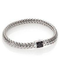 John Hardy - Classic Chain Black Sapphire & Sterling Silver Medium Bracelet - Lyst