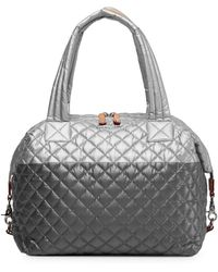 MZ Wallace Quilted Tin/steel Metallic Large Sutton - Multicolor