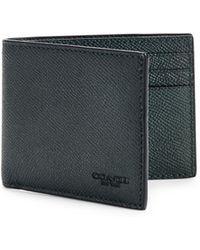 COACH - Leather Double Bill Fold Wallet - Lyst