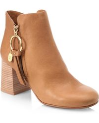 See By Chloé | Louise Leather Booties | Lyst