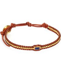 Chan Luu | Lapis & Natural Leather Bracelet | Lyst
