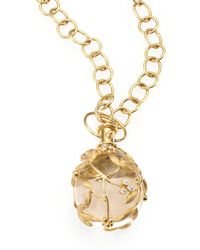 Temple St. Clair - Tree Of Life Rock Crystal, Diamond & 18k Yellow Gold Large Vine Amulet - Lyst