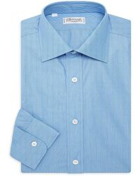 Charvet Contemporary Fit Micro-stripe Shirt - Blue