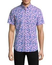 Bonobos - Short-sleeve Slim Cotton Button-down Shirt - Lyst