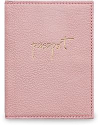 Graphic Image - Pebbled Leather Passport Case - Lyst