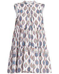 Chloé Ceramic-print Silk Habotai A-line Dress - White