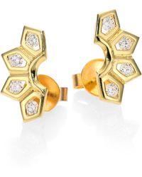 Ron Hami 14k Love Bolt Diamond Stud Earrings cAf7xiuB
