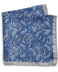 Saks Fifth Avenue - Collection Multi Paisley Print Silk Pocket Square - Lyst