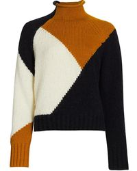 A.L.C. Claremont Colorblocked Sweater - Black