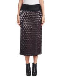 Issey Miyake - Retrospect Solid Wrap Skirt - Lyst