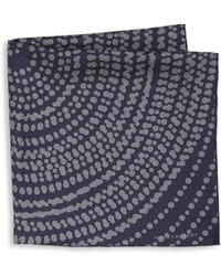 Hook + Albert - Frankie Dotted Silk Pocket Square - Lyst