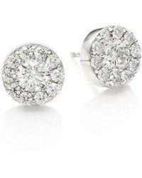 Hearts On Fire - Diamond & 18k White Gold Fulfillment Stud Earrings - Lyst