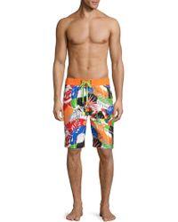 45405b9f3e Robert Graham - Matanazas Tropical Print Board Shorts - Lyst