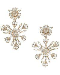 Fallon Snowflake Crystal Chandelier Earrings - Metallic