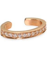 Anita Ko - 18k Rose Gold Diamond Pavé Ear Cuff - Rose Gold - Lyst