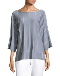 Lafayette 148 New York - Striped Boatneck Pullover - Lyst