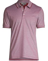 Canali Cotton Short-sleeve Polo - Red