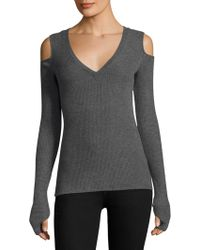 Feel The Piece - Slim-fit Cold Shoulder Sweater - Lyst