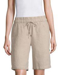 Eileen Fisher - Undyed Linen Shorts - Lyst