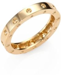 Roberto Coin - Pois Moi 18k Yellow Gold Single-row Band Ring - Lyst