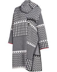 Stella McCartney Zigzag Virgin Wool Scarf Cape Cardigan - Multicolor